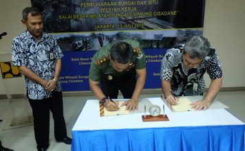 Kementerian PUPR dan TNI telah sepakat melibatkan Kodam Jaya dalam pemeliharaan empat sungai dan sembilan situ di Jabotabek.