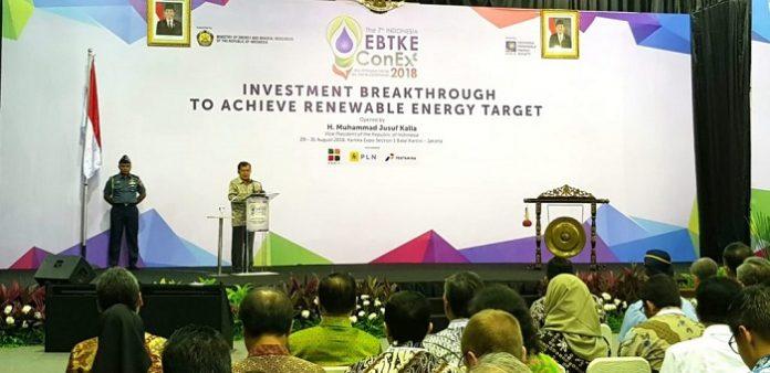 Wakil Pesiden Jusuf Kalla mengingatkan, Indonesia masih membutuhkan listrik14.000 MW dari energi terbarukan. Foto : Celebes Online