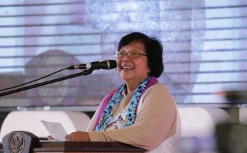 Menteri Lingkungan Hidup dan Kehutanan Siti Nurbaya jadi pembicara kunci dalam kegiatan GEF-7. Foto : Tempo.co