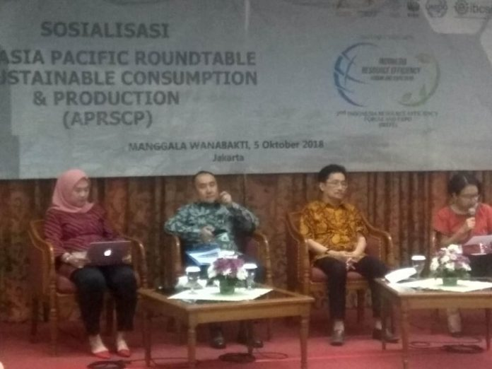 Konferensi pers 14th Conference Asia Pacific Roundtable For Sustainabiliity Consumption and Production & 2nd Indonesia Resource Efficiency Forum & Expo 2018. Foto : Istimewa
