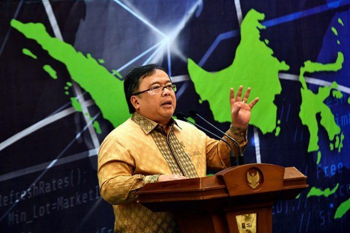 Menteri PPN/Bappenas Bambang Brodjonegoro memaparkan Visi Indonesia 2045. Foto : Antara
