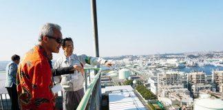 Gubernur Jateng Ganjar Pranowo mengunjungi PLTU Isogo yang juga menggunakan batu bara milik J-Power di Yokohama, Jepang. Foto : Suara Merdeka