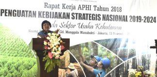 Menteri LHK Siti Nurbaya menyatakan ekspor hasil hutan punya kontribusi besar bagi ekonomi Indonesia. Foto : Suara Pembaruan