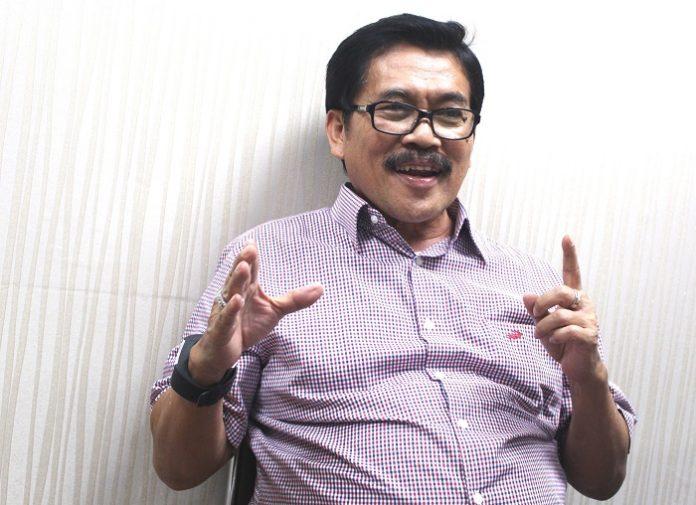Ketua Umum APKINDO Bambang Soepijanto optimistis Pemerintah akan bijaksana dan adil dalam menyelesaikan polemik dana iuran anggota APKINDO. Foto : Jos/tropis.co