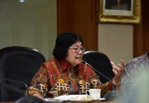 Menteri Lingkungan Hidup dan Kehutanan Siti Nurbaya mengingatkan bagaimana pengelolaan ekosistem dan sumber daya alam akan mampu mengurangi resiko bencana. Foto : KLHK
