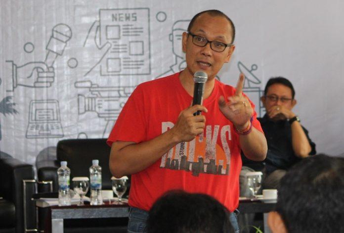 Wakil Ketua Umum Gapki Togar Sitanggang memperkenalkan fakta objektif mengenai industri sawit Indonesia yang berkelanjutan. Foto : Wisesa/TROPIS.CO