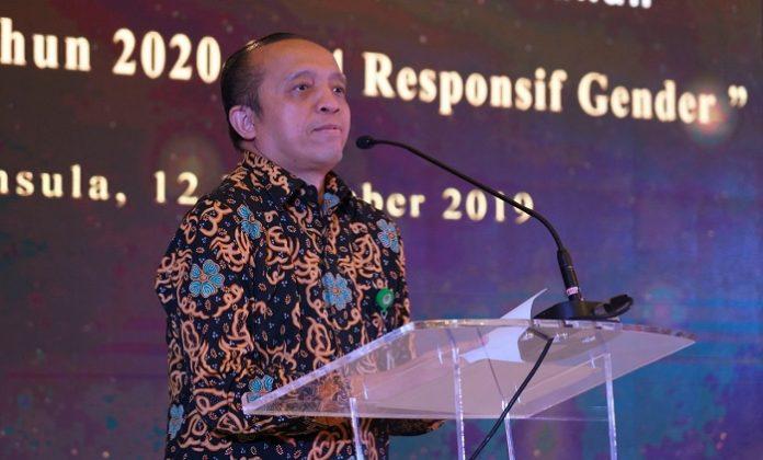 Sekretaris Jenderal KLHK Bambang Hendroyono menyatakan Omnibus Law Bidang Lingkungan Hidup dan Kehutanan memberikan kepastian hukum dan menyederhanakan aturan yang ada. Foto: KLHK