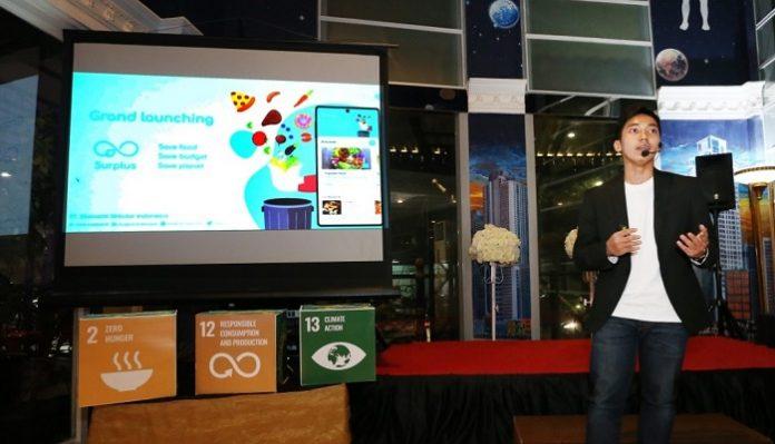Muhammad Agung Saputra luncurkan aplikasi Surplus - Food Rescue App dan Surplus Partner sebagai terobosan jitu kurangi makanan yang terbuang. Foto: Dodhi/TROPIS.CO