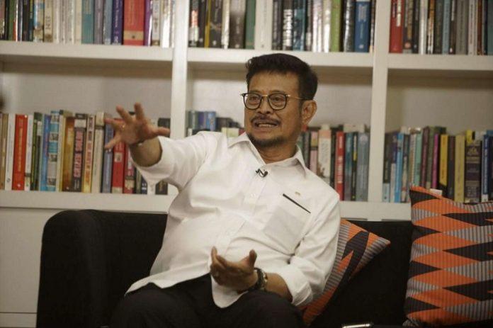 Menteri Pertanian Syahrul Yasin Limpo (SYL) menegaskan bahwa pihak yang melakukan alih fungsi lahan, sesuai dengan UU Nomor 41 Tahun 2009, dikenakan sanksi penjara lima tahun. Foto: liputan.co.id