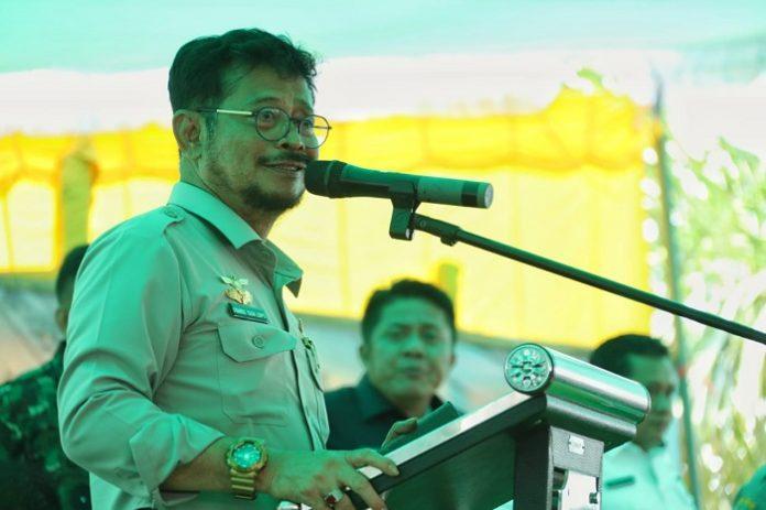 Menteri Pertanian Syahrul Yasin Limpo memerintahkan jajaran Kementerian pertanian (Kementan) agar memantau produksi sektor pertanian selama masa pandemi Covid-19. Foto: Kementan