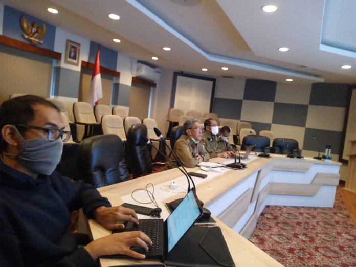 Dirjen Pengendalian Pencemaran dan Kerusakan Lingkungan MR Karliansyah saat rapat dengan DPP Gapki secara online, di Jakarta, Selasa {12/5/2020). Foto: Istimewa