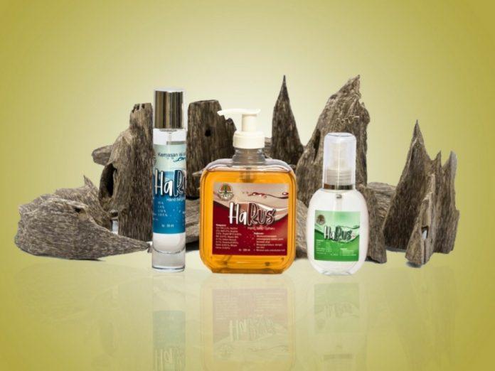 Senyawa sesquiterpenes dalam gaharu yang bisa mencegah Covid-19 dan bisa diproduksi sebagai hand sanitizer dan sabun. Foto: Istimewa