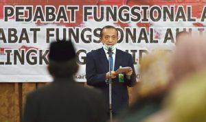 Sekjen Bambang Hendroyono saat melantik pejabat fungsional di lingkungan LHK, Selasa (30/6/2020)