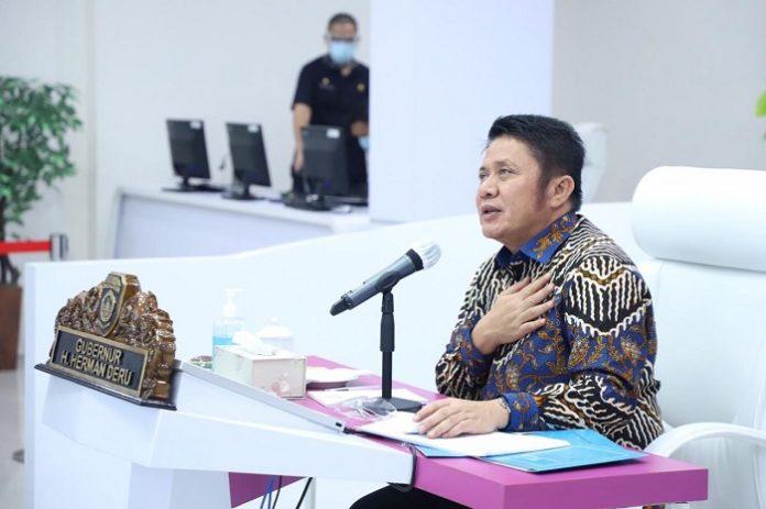 Gubernur Sumatera Selatan H. Herman Deru menilai pentingnya keselarasan antara manusia dengan memperlakukan alam secara proporsional dalam perspektif perlindungan lingkungan, sejalan dengan visi pembangunan Provinsi Sumatera Selatan Tahun 2018 – 2023 Sumatera Selatan Maju Untuk Semua. Foto: EXTRANEWS