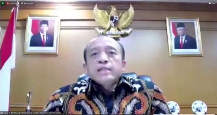 Sekretaris Jenderal Kementerian Lingkungan Hidup dan Kehutanan (KLHK) Bambang Hendroyono mengatakan pemerintah optimistis usaha sektor kehutanan ke depan dapat terus meningkatkan kinerjanya. Foto: KLHK