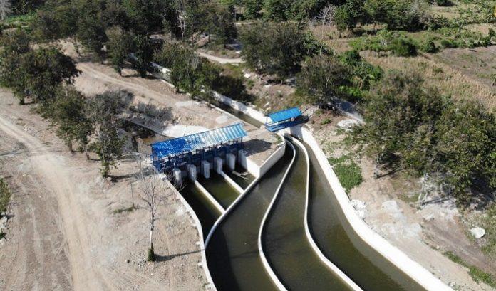 Bendung dan saluran irigasi Daerah Irigasi (DI) Gumbasa ditargetkan rampung pada tahun 2023. Foto: Kementerian PUPR