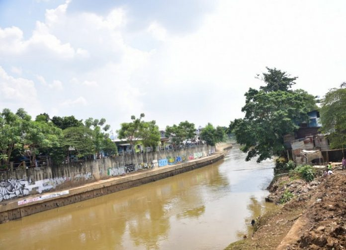 Proyek Sodetan Sungai Ciliwung merupakan bagian dari rencana induk sistem pengendalian banjir (flood control) Ibu Kota Jakarta dari hulu hingga hilir. Foto: Kementerian PUPR