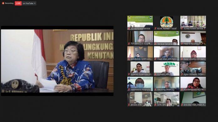 Menteri LHK Siti Nurbaya mengatakan bahwa lahan gambut dan mangrove dapat menjadi fokus kerja sama antara Indonesia dan Republik Korea. Foto: KLHK